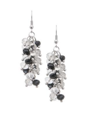 Beaded cluster earrings by Lane Bryant