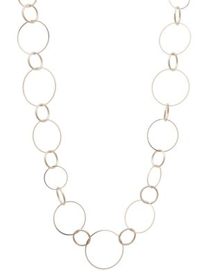 Long goldtone ring necklace by Lane Bryant