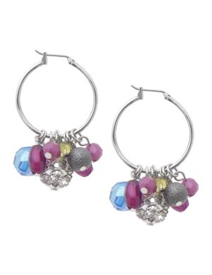 Multi bead hoop earrings by Lane Bryant