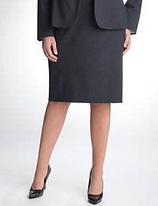 Full Figure Pinstripe Pencil Skirt by Lane Bryant