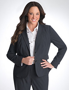 Full Figure Pinstripe Suit Jacket by Lane Bryant