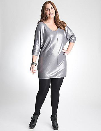 Sequin Wedge Dress by Lane Bryant