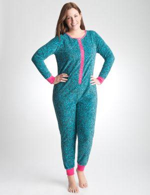 Animal print onesie pajamas