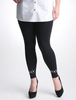 Control top studded leggings