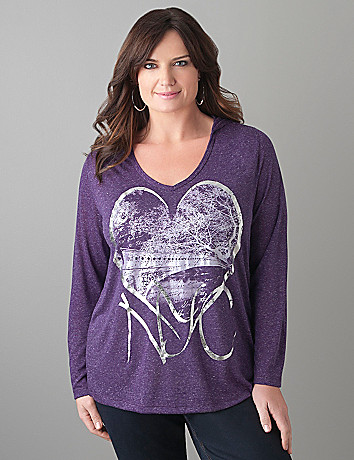 NYC Screenprint Hoodie by Lane Bryant