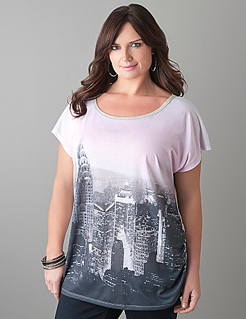 Plus Size NYC Skyline Tee by Lane Bryant