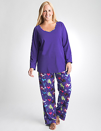 Plus Size Dog Print PJ Set by Cacique