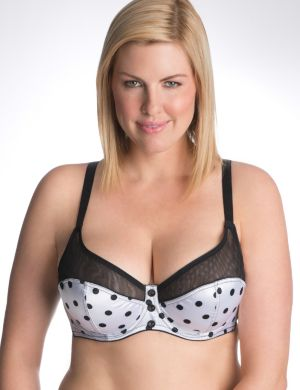 Polka dot French full coverage bra