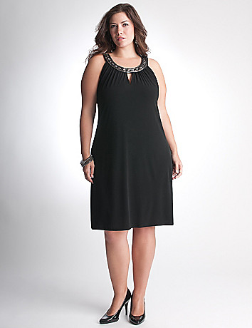 Full Figure Embellished Dress by Lane Bryant