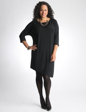 Asymmetric dolman dress