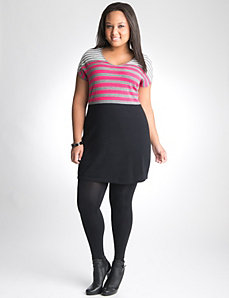Plus Size Striped Sweater Dress by Lane Bryant