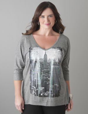 NYC sequin tee