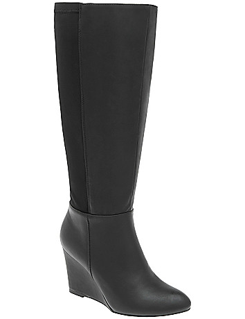 Wide Calf Wedge Boots by Lane Bryant