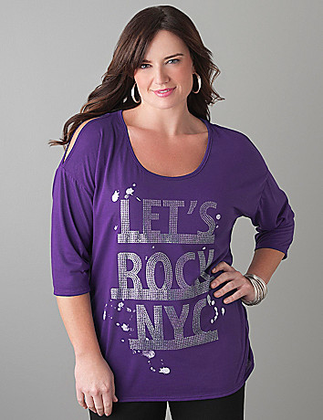 Plus Size Sequin NYC tee by Lane Bryant