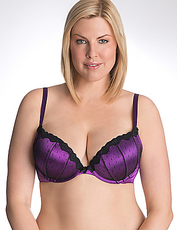 Plus size dot lace plunge bra by Cacique