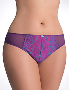 Full Figure Passion lace tanga panty