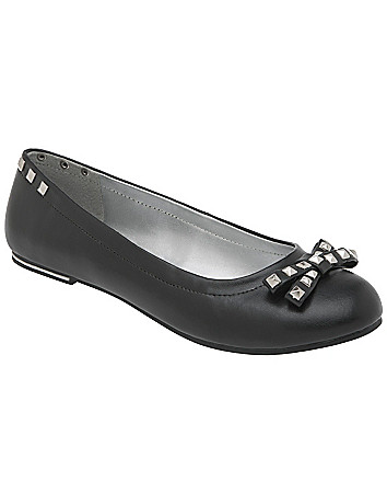 Wide Width Studded Ballet Flats by Lane Bryant