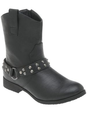 Studded moto ankle boot