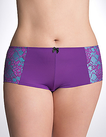 Layered lace boyshort panty