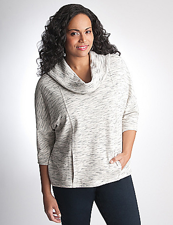 Plus Size Cowl Dolman Sweatshirt by Lane Bryant