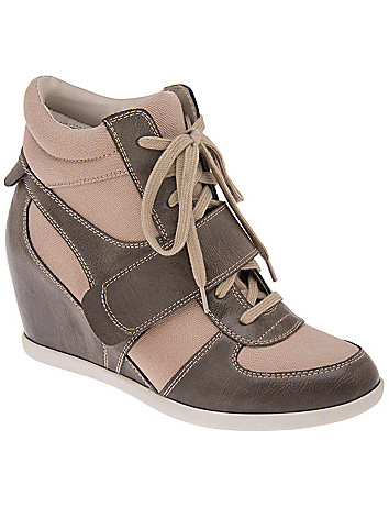 Wide Width Wedge High Top Sneakers by Lane Bryant
