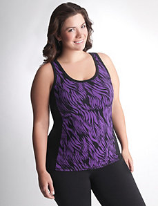 Plus Size Colorblock Active Tank by Lane Bryant