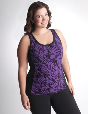 Racer back print active tank