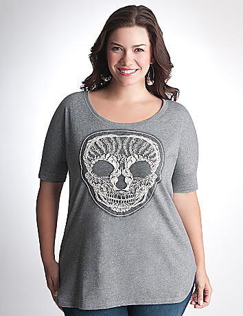 Full Figure Skull Tee by Lane Bryant