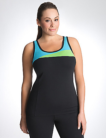 Full Figure Colorblock Tank by Lane Bryant