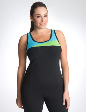 Colorblock active tank