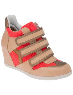 Color pop hidden wedge sneakers