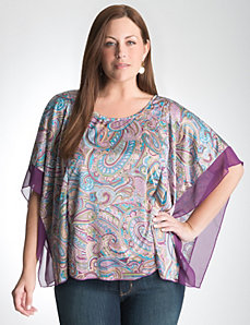 Plus Size Paisley Square Top by Lane Bryant