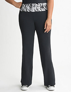 Plus Size Zebra Print Yoga Pant by Lane Bryant