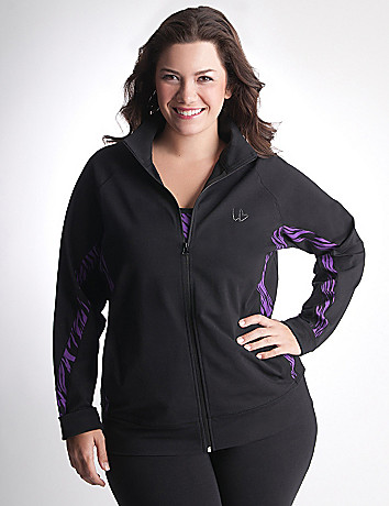 Zebra Print Active Jacket by Lane Bryant