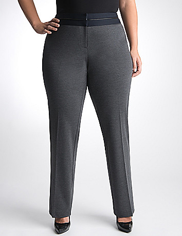 Plus Size Ponte Dress Suit Pant by Lane Bryant