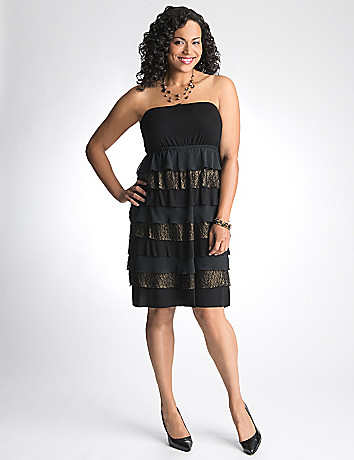 Full Figure Lace Tube Dress by Lane Bryant