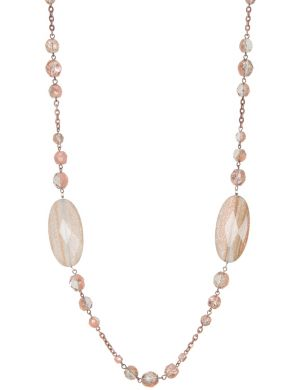 Lane Collection dusted stone necklace