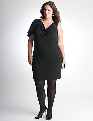Plus Size One Sleeve Dress by Lane Bryant