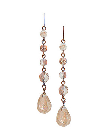 Dusted linear bead earrings by Lane Bryant
