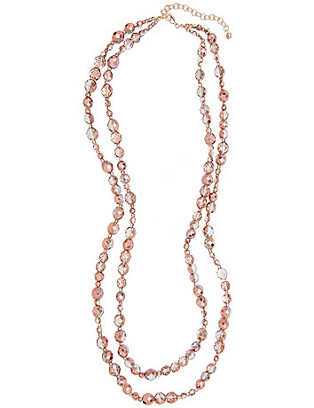 Layered goldtone bead necklace by Lane Bryant