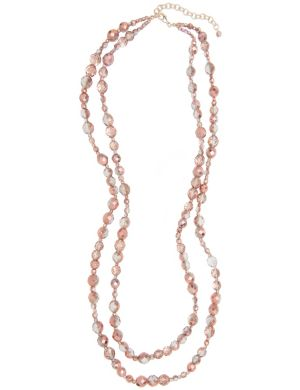 Lane Collection layered goldtone bead necklace