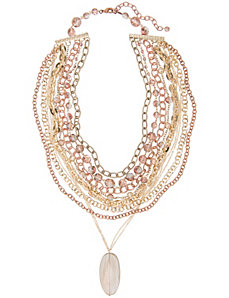 Multi chain pendant necklace by Lane Bryant