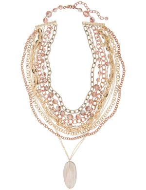 Lane Collection torsade drop necklace