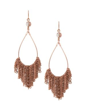 Lane Collection chain accent teardrop earrings