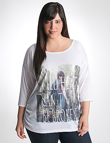 Wild Hearts city graphic tee by Lane Bryant