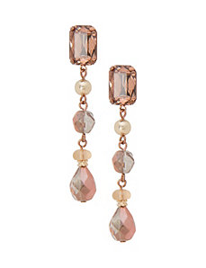 Linear button drop earrings by Lane Bryant