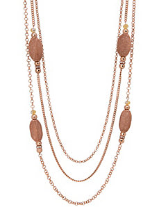 Mesh bead layered necklace by Lane Bryant