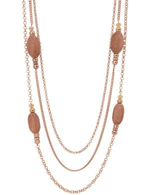 Lane Collection mixed metal necklace