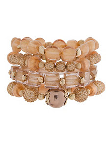 Beaded stretch bracelet set by Lane Bryant