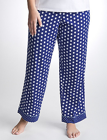 Plus Size Polka Dot Knit Sleep Pant by Cacique